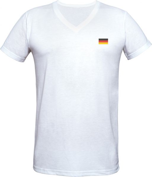 "T-Shirt ""Flagge"" V-Neck"