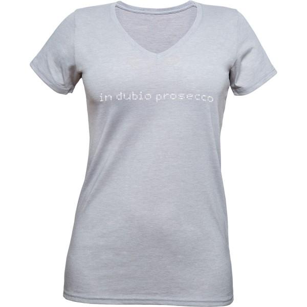 """T-Shirt """"in dubio prosecco"""" V-Neck"""