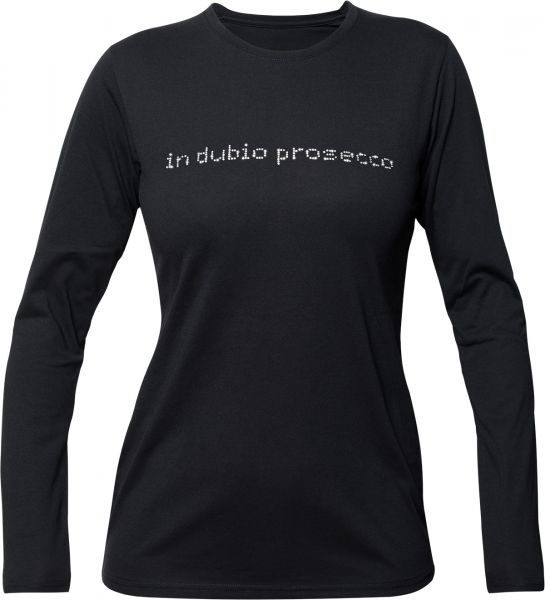 "Longsleeve ""in dubio prosecco"" Rundhals"